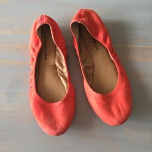 Lucky Brand 'Emmie' Coral Flats Size 9.5